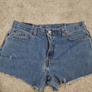 Levi Strauss Cutoff Denim Shorts